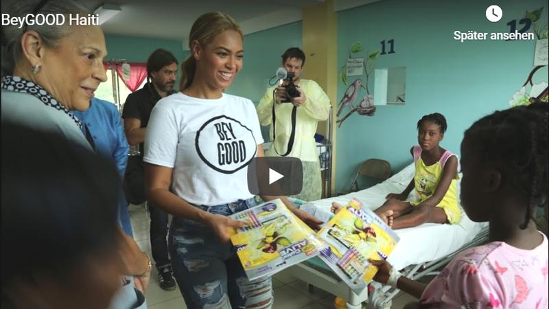 Wenn Beyoncé vorbeikommt: Die Kinder im Kinderkrankenhaus waren begeistert.