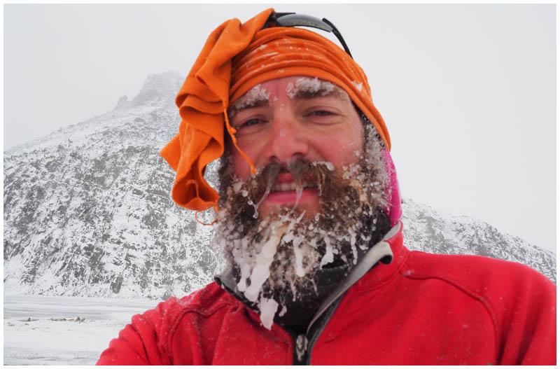 Eisige Kaelte in Alaska im August - fuer Extremradfahrer Helmut Pucher nur eine weitere Huerde, die er ueberwunden hat.